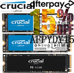 [Afterpay] Crucial P2 NVMe PCIe M.2 SSD 1TB $125.80, Samsung 980 Pro 1TB $237.15 Delivered @ gg.tech365 eBay