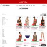 Extra 30% off Already Reduced Men's & Women's Underwear & Sleepwear (Extra 10% off for VIP Members) @ Calvin Klein