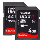 SanDisk Ultra SDHC 4GB Card - 4 Pack $19.90 Delivered at Dealfox