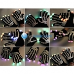 Free Shipping + Color Changing LED Flashing Fingertip Gloves (Black) Only $15.29