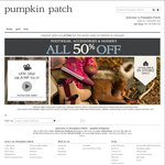 NOTHING over $20 Site Wide + Free Delivery (with Code) @Pumpkin Patch
