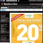 20% off Everything @ World Soccer Shop - Incl Boots and World Cup Merchandise