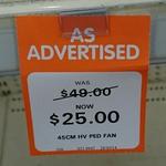 HV Pedestital Fan 45cm @ Big W - $25 (Was $49)