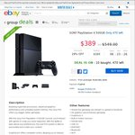 $389 PS4 eBay Group Deals (Delivered) Plus Cashrewards 2% Cashback