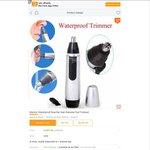 AUD $0.01 Electric Waterproof Nose Ear Hair Removal Tool Trimmer via Banggood App