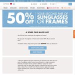 OPSM: 50% off Your Second Pair of Sunglasses or Frames