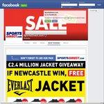 Free Everlast Jacket + Shipping if Newcastle Utd Beat West Ham (EPL) @ Sports Direct (FB Like Rqd)