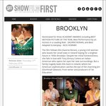 FREE Tickets to Advanced Screenings of BROOKLYN (Excludes NT & TAS)