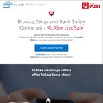McAfee LiveSafe Subscription (1st 12 Months Free, 50% off each year after) Retail at $129.95