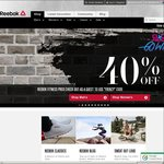 Reebok 40% off Full Price & Sales Items CLICK FRENZY