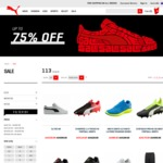 PUMA Sale up to 75% off + Free Shipping (T-Shirts from $15, Soccer Boots from $35, Shorts from $24 + More) + 15% off on Signup