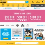 Petbarn $30 off $150, $50 off $250, $100 off $500 - Online Only