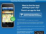 'Cheap Parking' iPhone App - FREE from CarParking.info