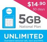 Lebara National Plan – 5GB $29.90 Starter Pack $14.90, 7GB for $16.90, 10GB for $24.90