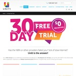 Uniti Wireless 30 Day Free Trial Using Code Online (Limited to Areas in SA Adelaide, VIC Melbourne)
