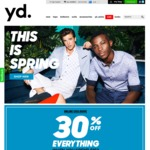 30% off Everything at yd. (Online Only, Minimum Spend $150)
