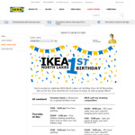 [QLD] IKEA North Lakes 1st Birthday. $20 Voucher for Every $200 Spent. Plus in Store Specials