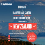 Win a Choice of a Trip to New Zealand or $7,500 Cash or 1 of 40 Runner-up Prizes [Purchase Any BlackVue Dash Cam]