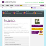 Increased Cashback for Dan Murphy's at Cashrewards