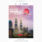Malaysian Airlines Boxing Day Special – Includes Fly to Kuala Lumpur from AU $531 (Economy from Perth)
