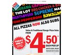 Domino's Subs - Today Only $4.50 (Value and Traditional Range)