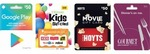 2,000 Flybuys Points (Worth $10) When Spend $50 on Google Play, Ultimate Kids, Hoyts or Gourmet Traveller Gift Cards @ Coles