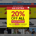 Extra 20% off on All Footwear @ Sports Direct AU + $1.99 Shipping