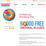 Get a Free Glazed Doughnut on June 1 @ Participating Krispy Kreme Stores (NSW, QLD, VIC & WA)