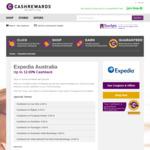 12% Cashback with Expedia Australia on International Hotels @ Cashrewards
