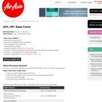 AirAsia - 20% off all Base Fares
