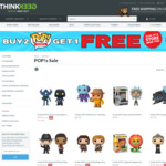 Buy 2 Pop Vinyl Get One Free @ Think Geek
