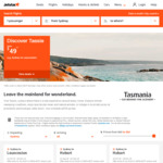 Jetstar One Way Flights to Hobart from MEL/SYD from $45 and $69