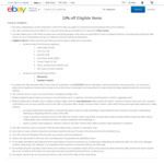 eBay 10% off Sitewide ($50 Min Spend)