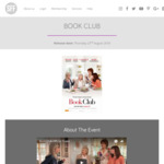 "[VIC/WA/QLD/NSW/SA] Free Tickets to Preview Screenings of ""Book Club"" with Showfilmfirst (Membership Req'd)"