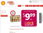 T30 (30Pieces) Ferrero Rocher Gift Box for Valentines Day @ Coles Express $9.99 (Save $5)