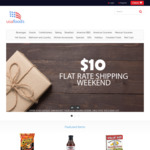 $10 Flat Rate Shipping at USA Foods This Weekend