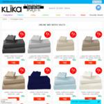 1000TC Cotton Rich Bedsheet Set (King or Queen Size) $40 Delivered @ Klika