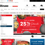 25% off Sitewide (Including Sale Items, Some Exclusions) @ House