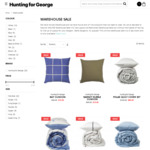 Up To 75% Off Quilt Covers, Blankets, Cushions (e.g. Bay Cushion Cover $15, Polar Quilt Cover Set $80) @ Hunting for George