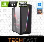 Ryzen 5 2600 RTX 2080 120GB SSD 8GB DDR4 + Battlefield V $1439, Ryzen 3 2200G GTX 1060 $629 Delivered @ Techfast eBay