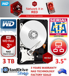 WD Red 3TB NAS HDD (WD30EFRX) $111.92 + Free Standard Delivery @ The Hard Drive Shop eBay