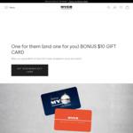 Bonus $10 Myer Gift Voucher on $100 Myer Gift Voucher Spend