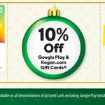 10% off Google Play & Kogan Gift Card @ Woolworths