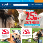 """PETstock 25% off """"Sitewide"""" with Exclusions - eg Ivory Coat 13kg Lamb & Kangaroo $82.49, Was $120; Free Metro Delivery over $25"""