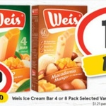 ½ Price Weis Ice-Cream Bar Varieties 4Pk $3.40 @ IGA