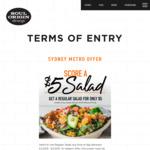 [NSW] Any Regular Salad $5 @ Soul Origin (Sydney CBD)