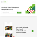 $10 off First Order @ Uber Eats (New Customers)
