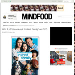 Win 1 of 10 Copies of 'Instant Family' on DVD Worth $39.95 from MiNDFOOD