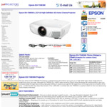 Epson EH-TW8300 Home Theatre Projector $2999 with Free Delivery from Just Projectors
