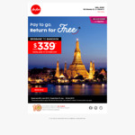 Non-Stop Return Flights from Brisbane to Bangkok (from June to Oct) from $339 (BIG Member Fare) @ Air Asia